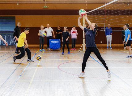 Volleyball : 40 étudiants ont testé un nouveau type de cours de marketing